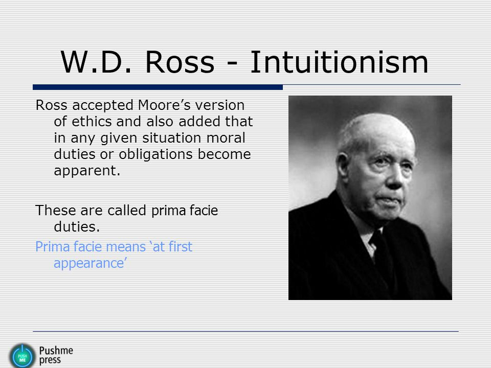 W.D. Ross - Intuitionism