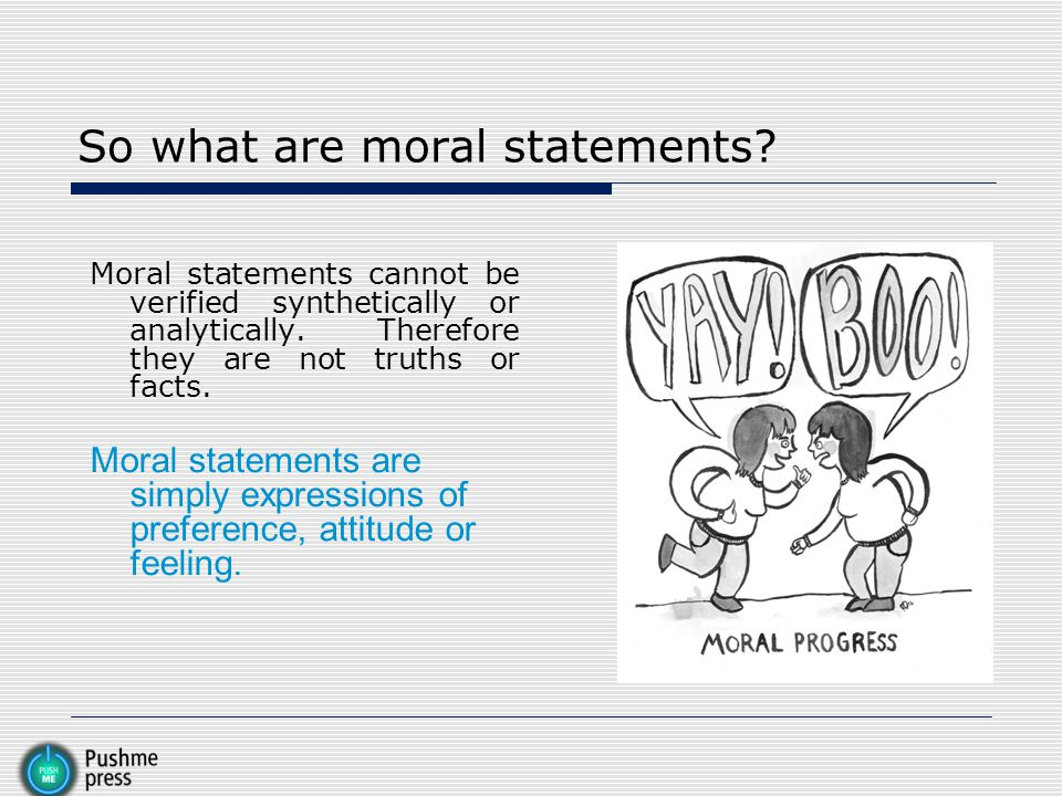 So what are moral statements