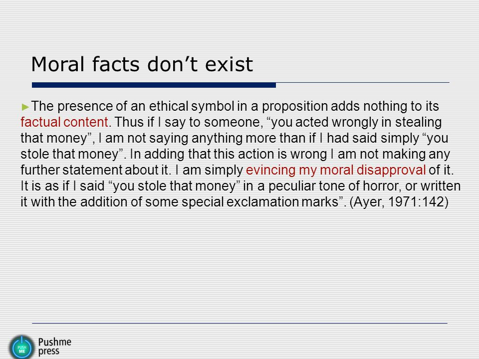 Moral facts don't exist