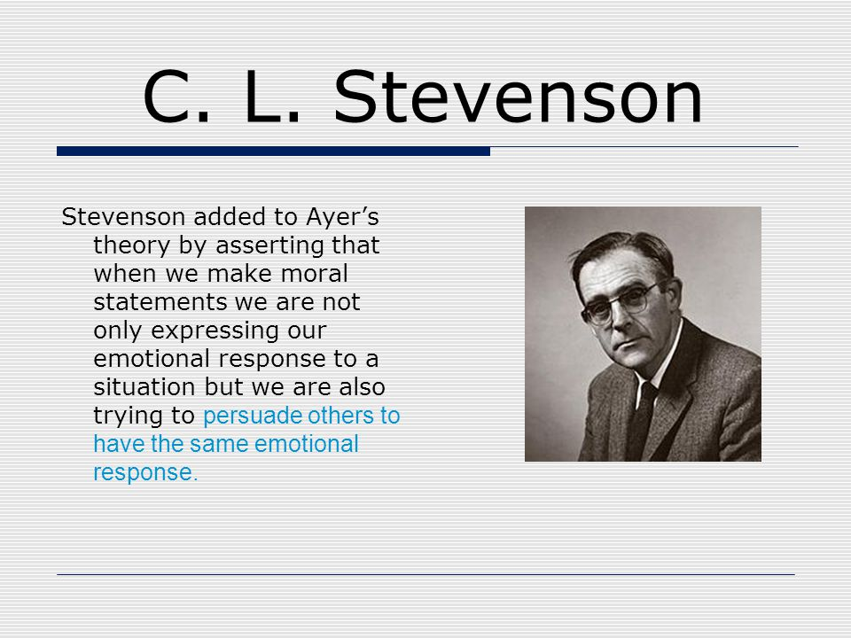 C. L. Stevenson