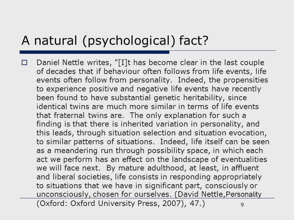 A natural (psychological) fact