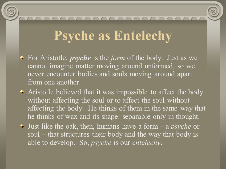 Psyche as Entelechy