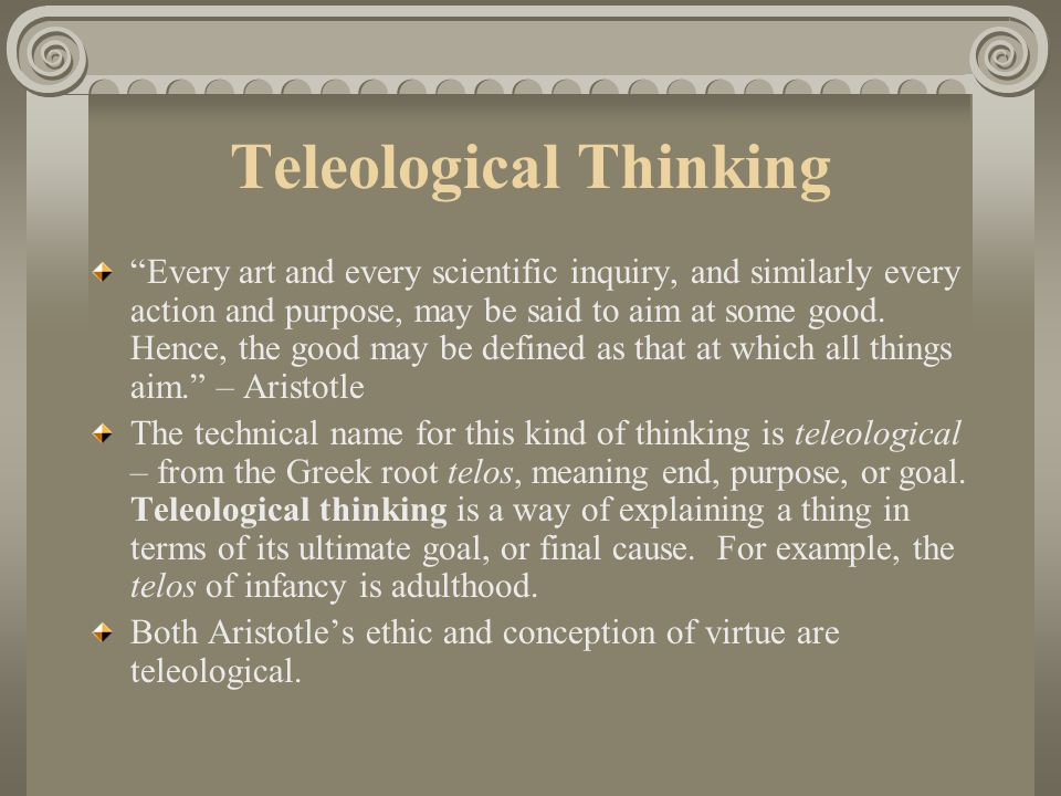 Teleological Thinking