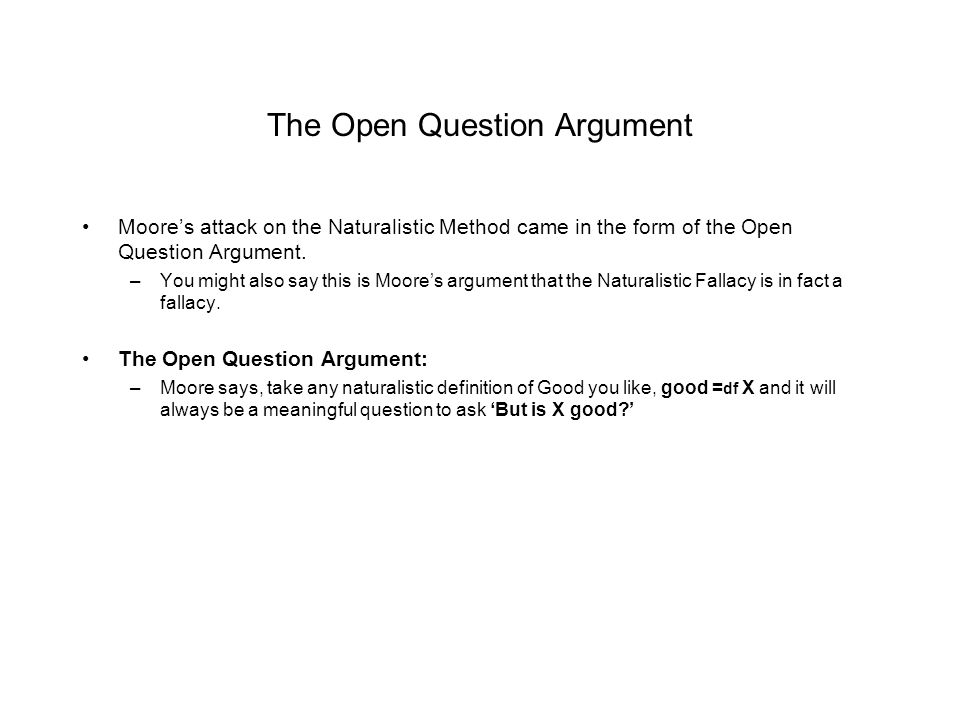 The Open Question Argument