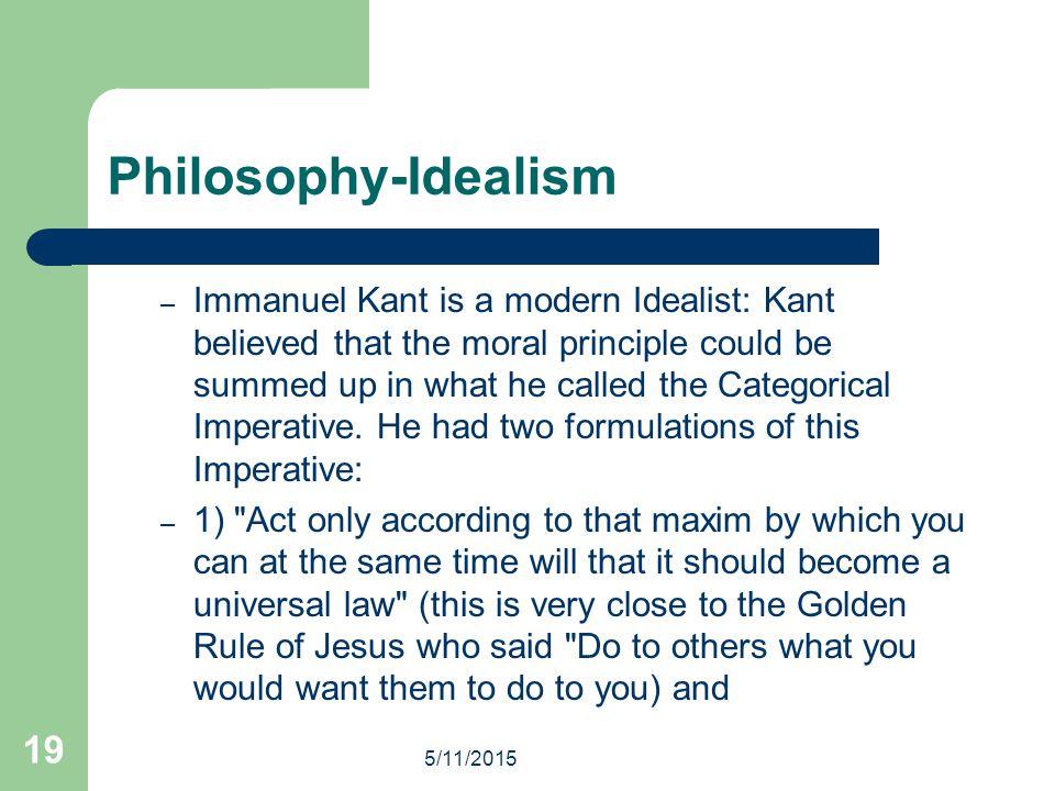 Philosophy-Idealism