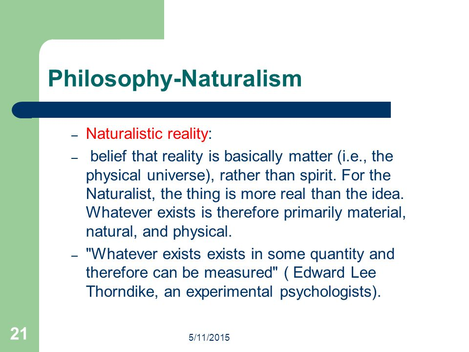 Philosophy-Naturalism