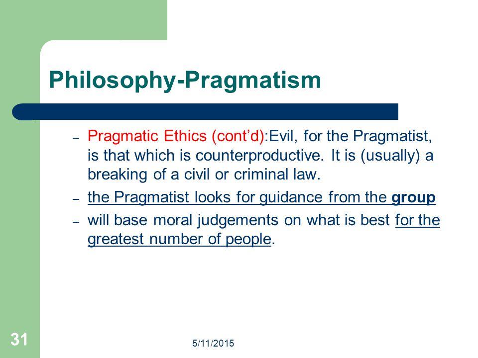Philosophy-Pragmatism