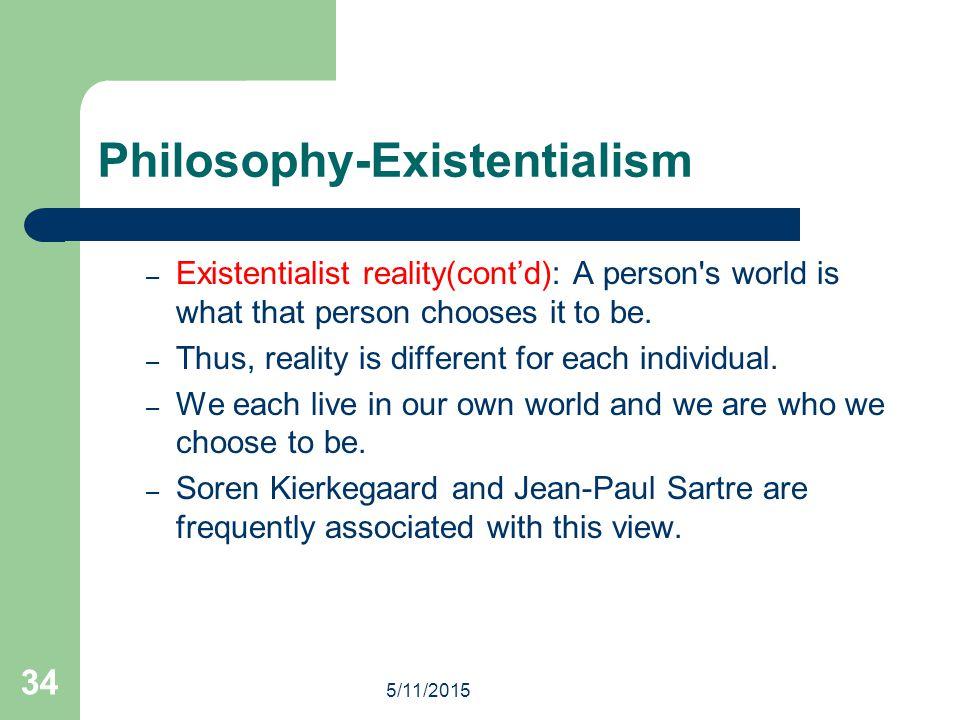 Philosophy-Existentialism