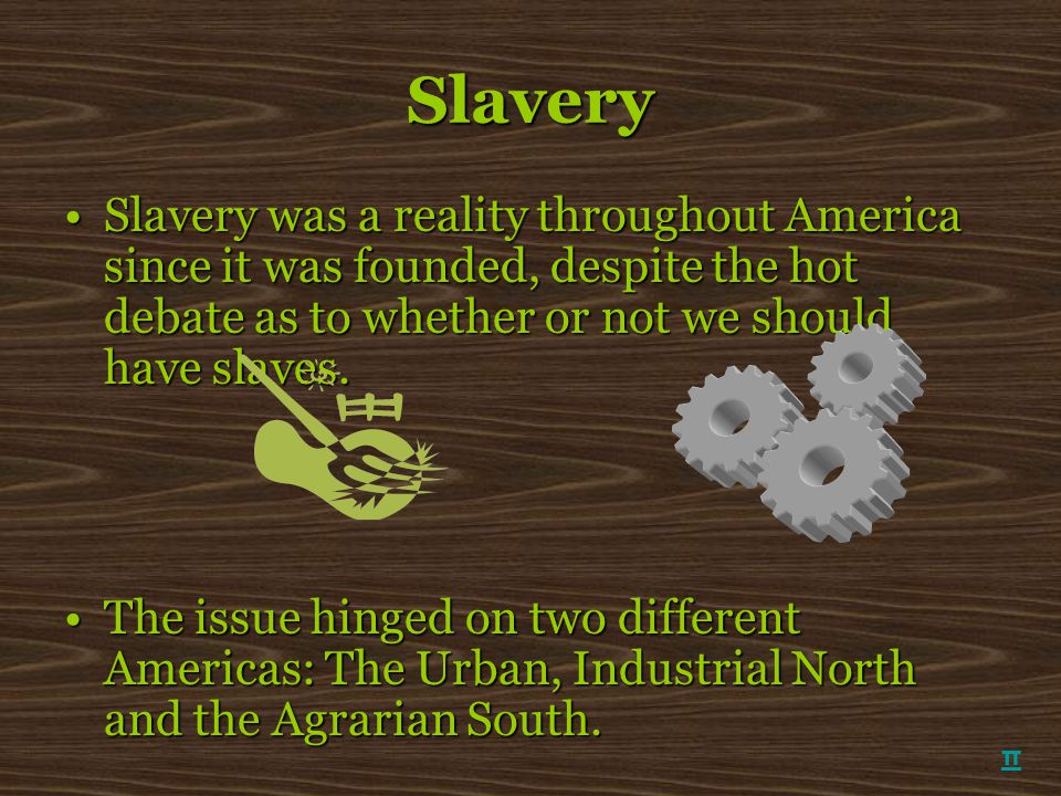 Slavery Slavery was a reality throughout America since it was founded, despite the hot debate as to whether or not we should have slaves.