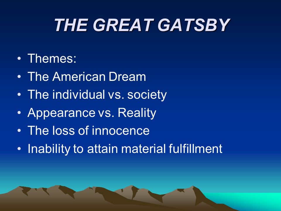 a review of the american dream in f scott fitzgeralds the great gatsby The great gatsby is a novel written by f scott fitzgerald, the american author who is considered one of the greatest writers of all time the novel depicts the american society in the 1920s, also .