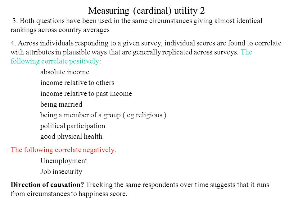 Measuring (cardinal) utility 2