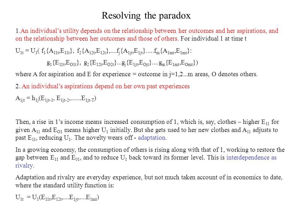 Resolving the paradox