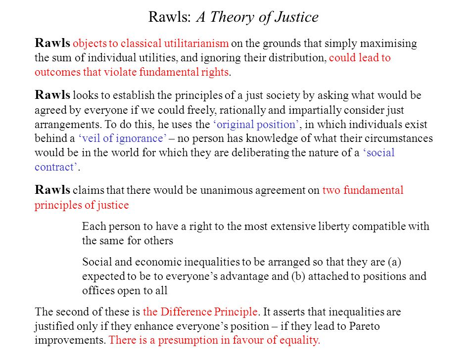 Rawls: A Theory of Justice
