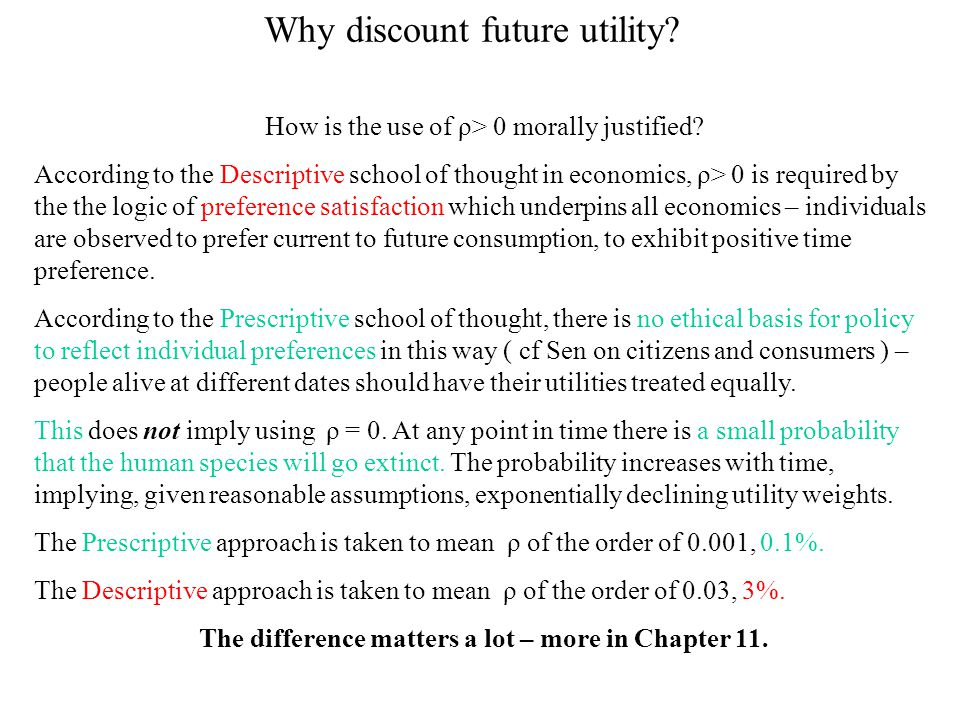 Why discount future utility