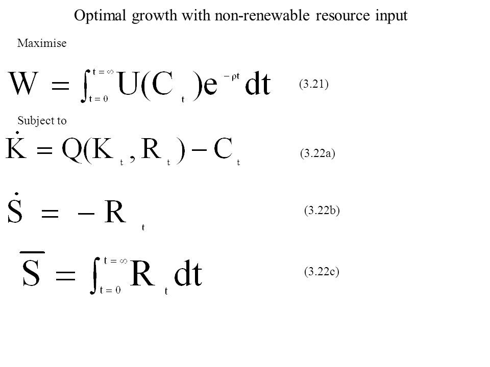 Optimal growth with non-renewable resource input