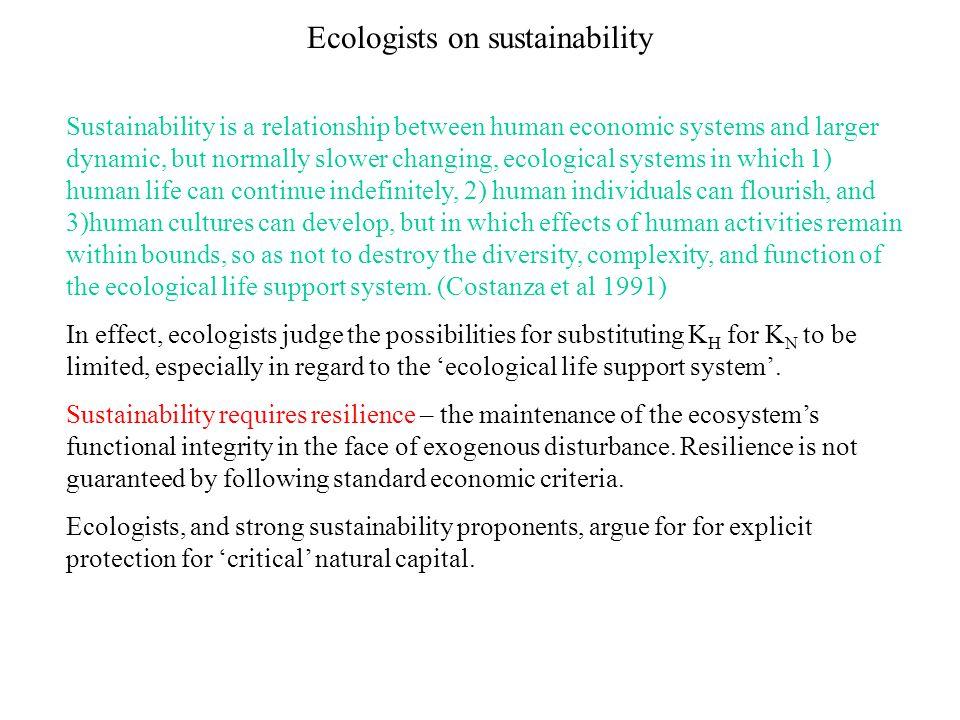 Ecologists on sustainability