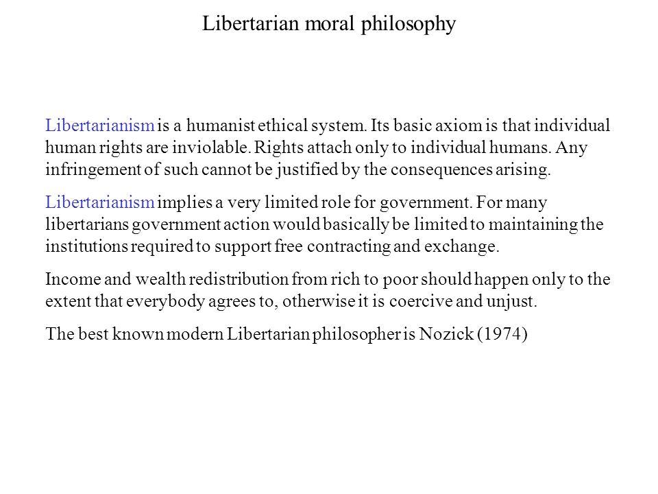 Libertarian moral philosophy