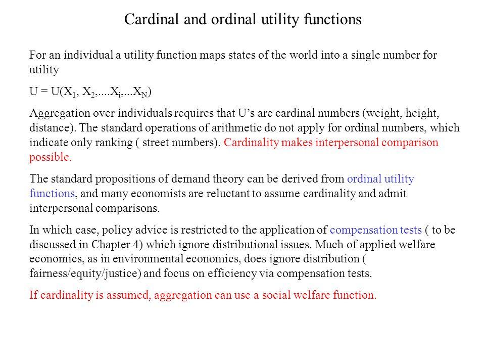 Cardinal and ordinal utility functions