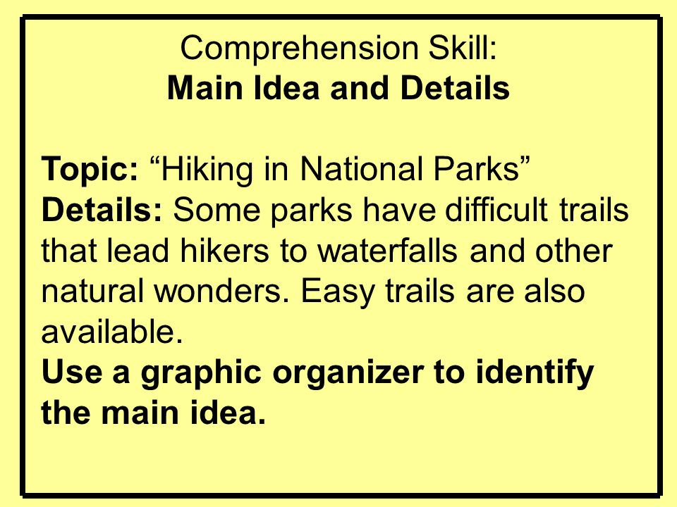 Topic: Hiking in National Parks
