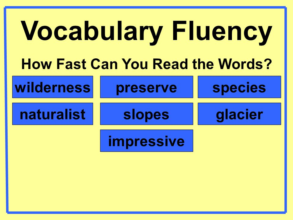 How Fast Can You Read the Words