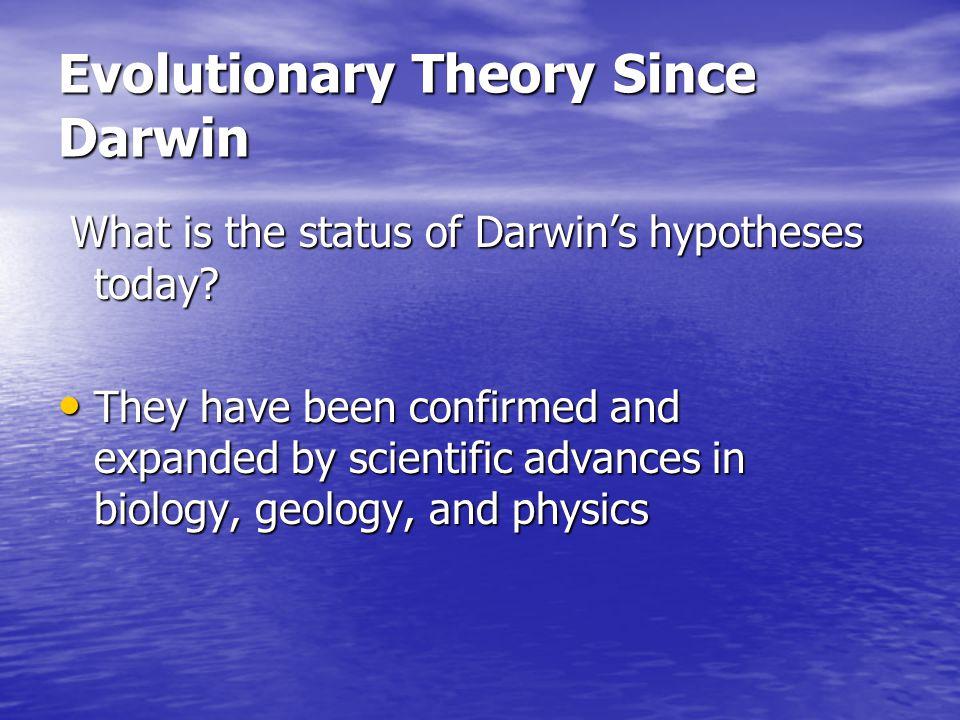 Evolutionary Theory Since Darwin