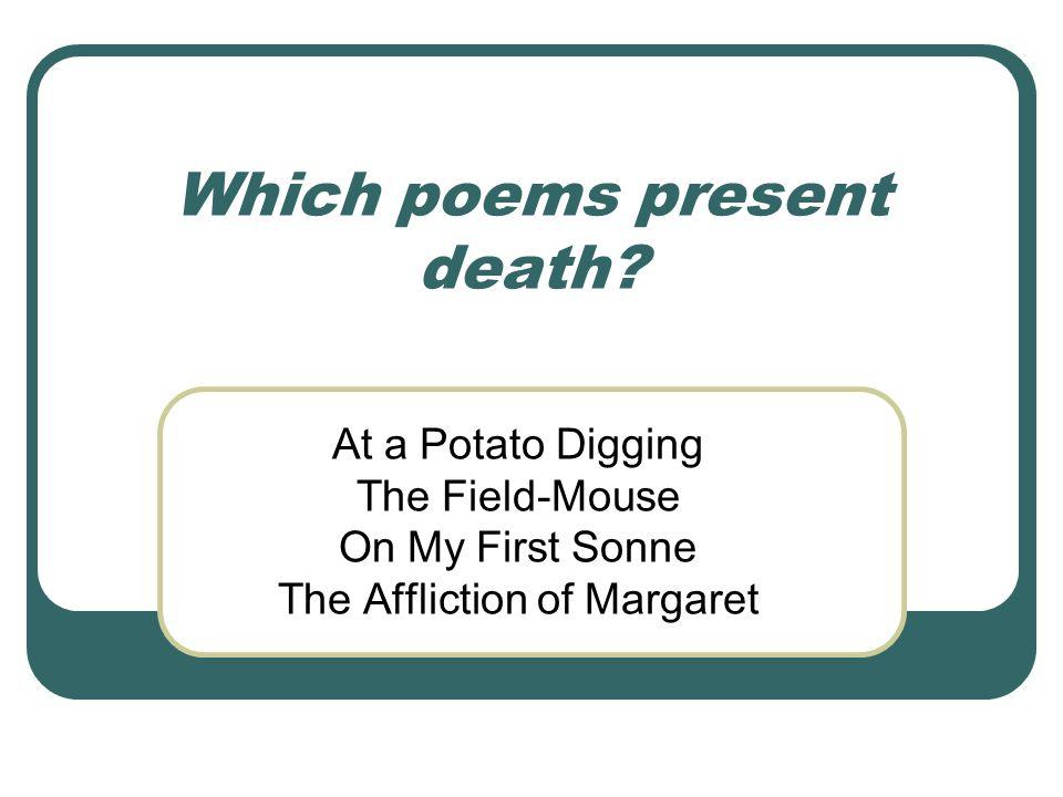 Which poems present death