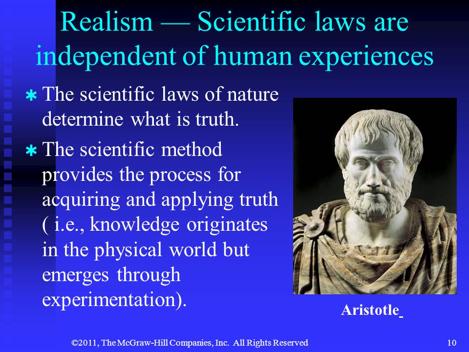 Realism — Scientific laws are independent of human experiences