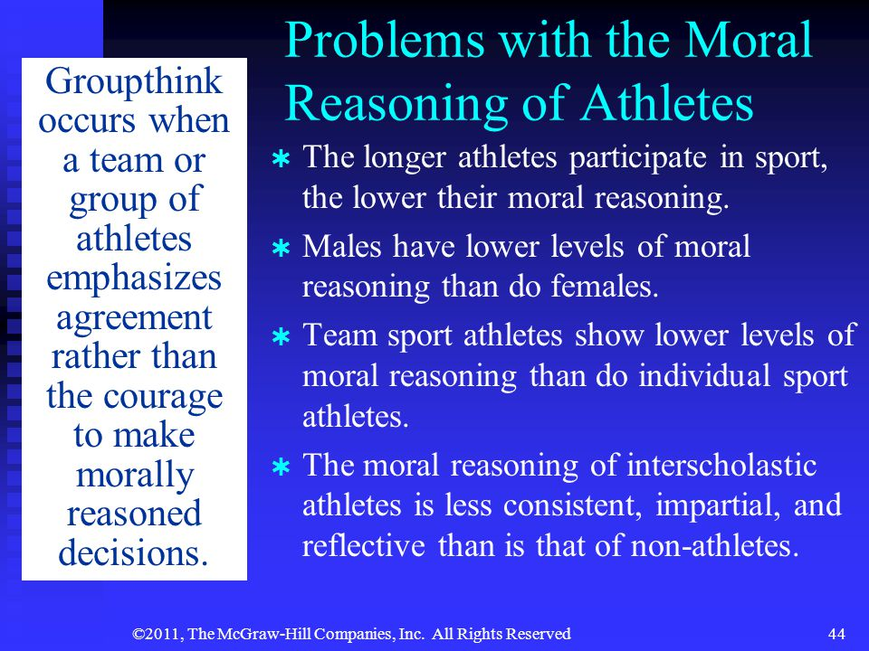 Problems with the Moral Reasoning of Athletes