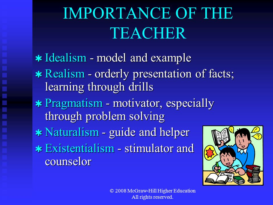 IMPORTANCE OF THE TEACHER