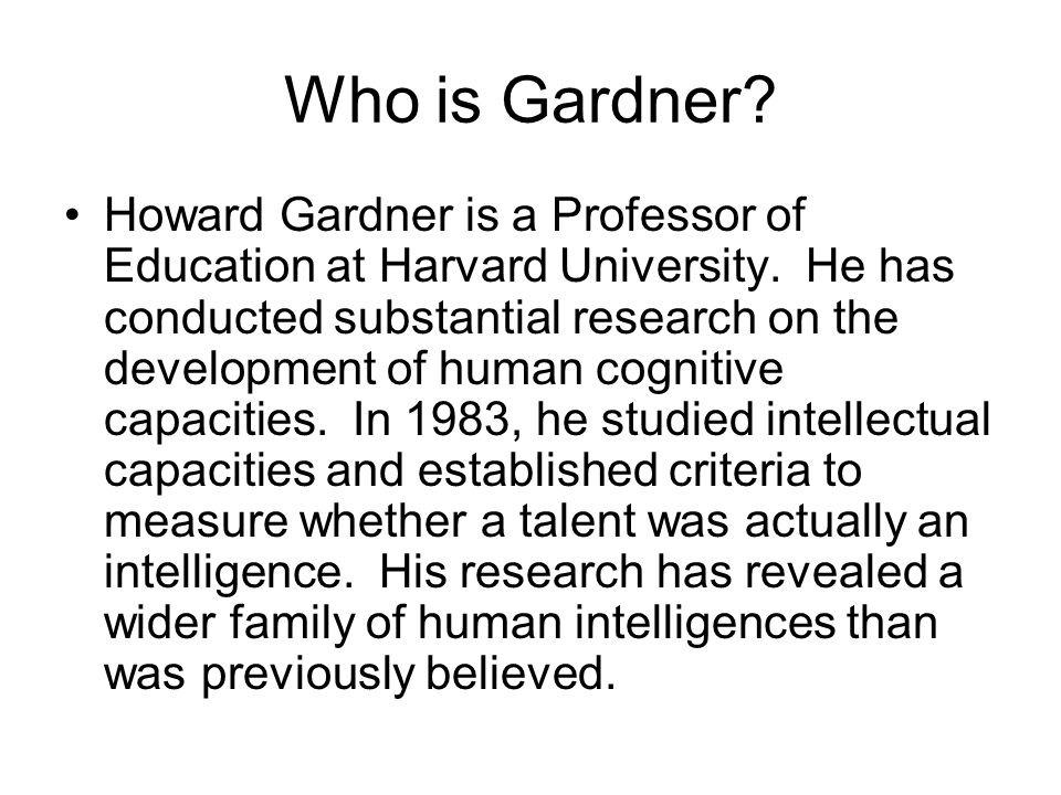 Who is Gardner