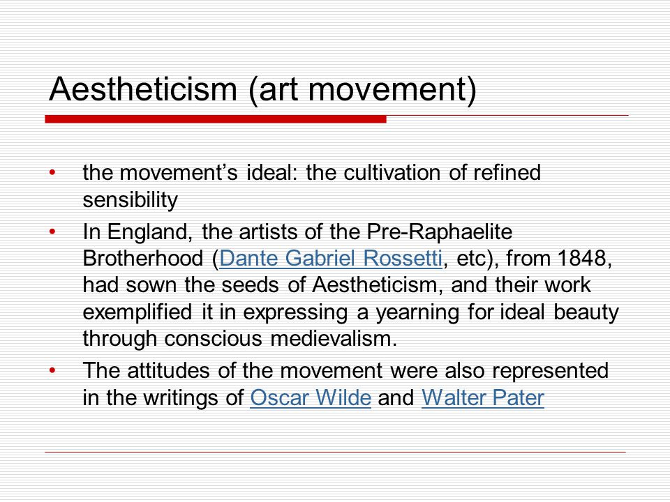 Aestheticism (art movement)