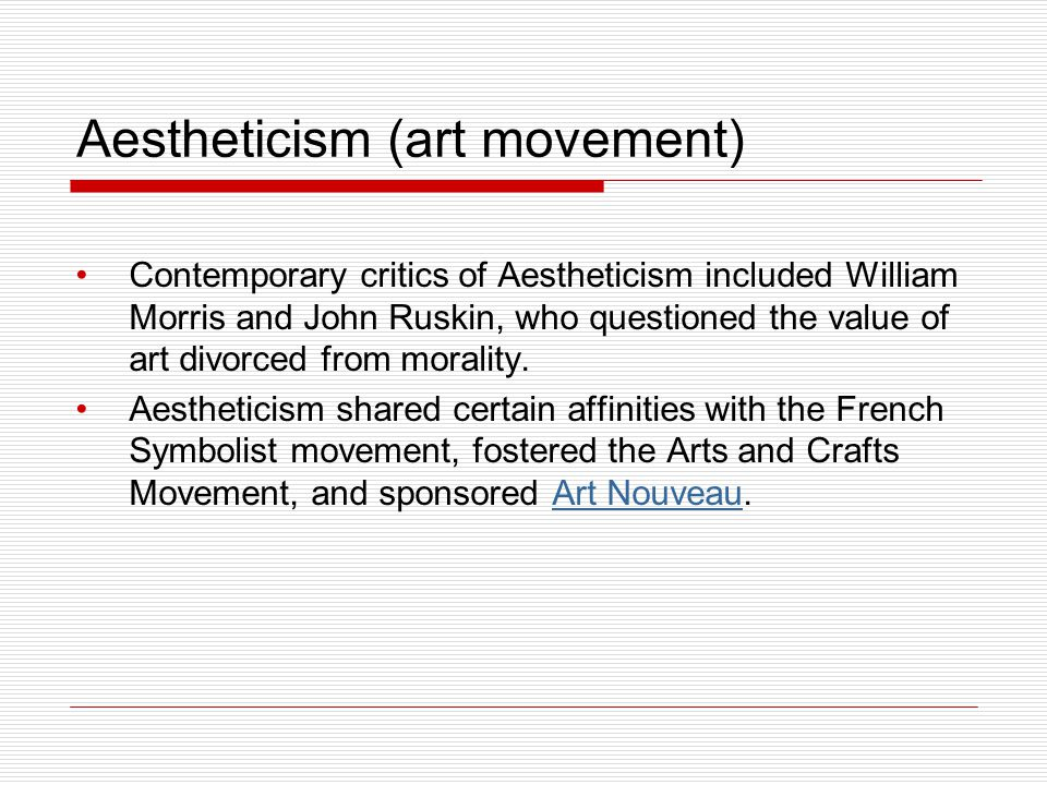 Aestheticism (art movement)