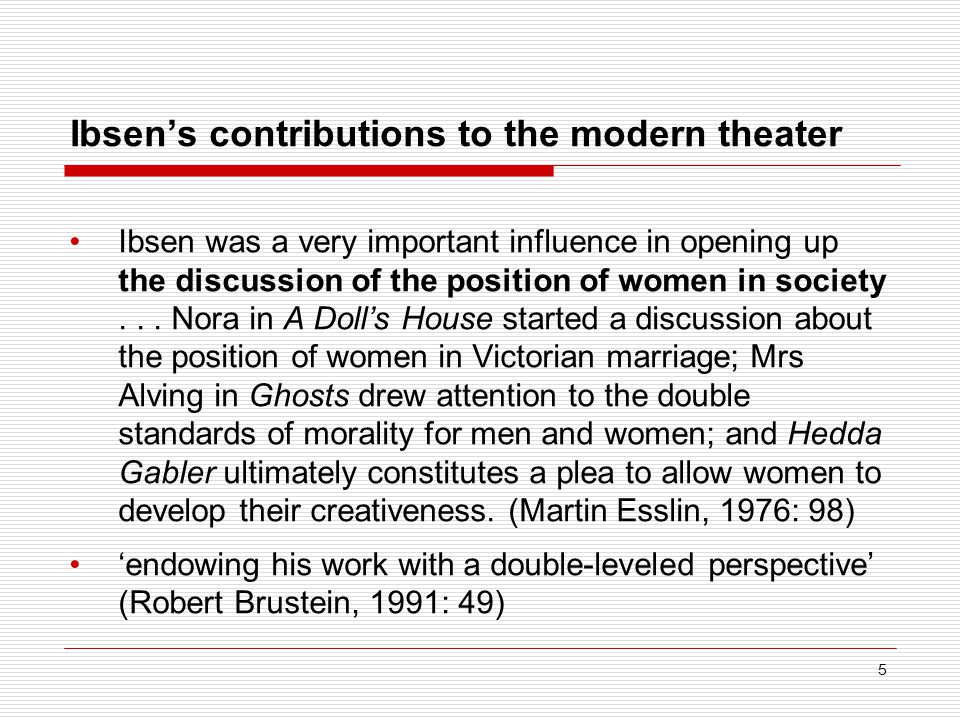 Ibsen's contributions to the modern theater