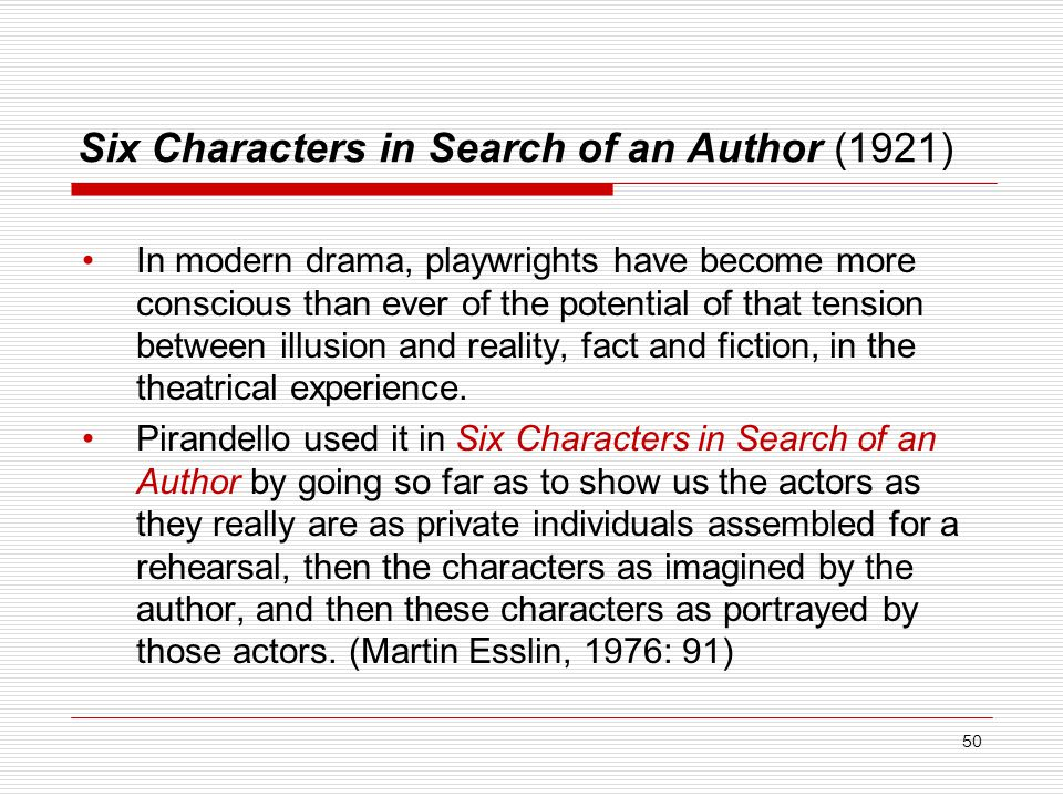 Six Characters in Search of an Author (1921)