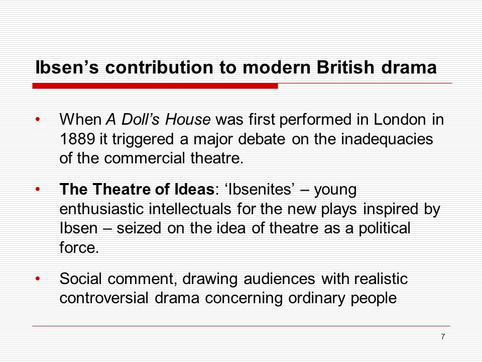 Ibsen's contribution to modern British drama