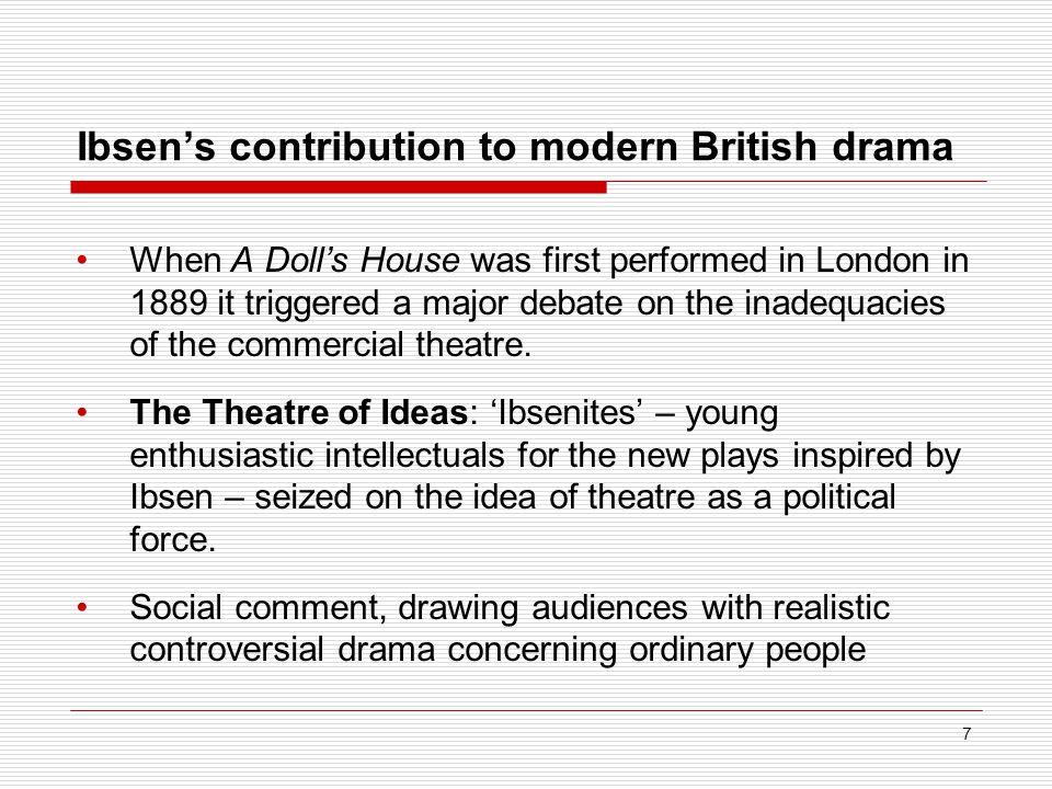 Ibsen's contribution to modern British drama