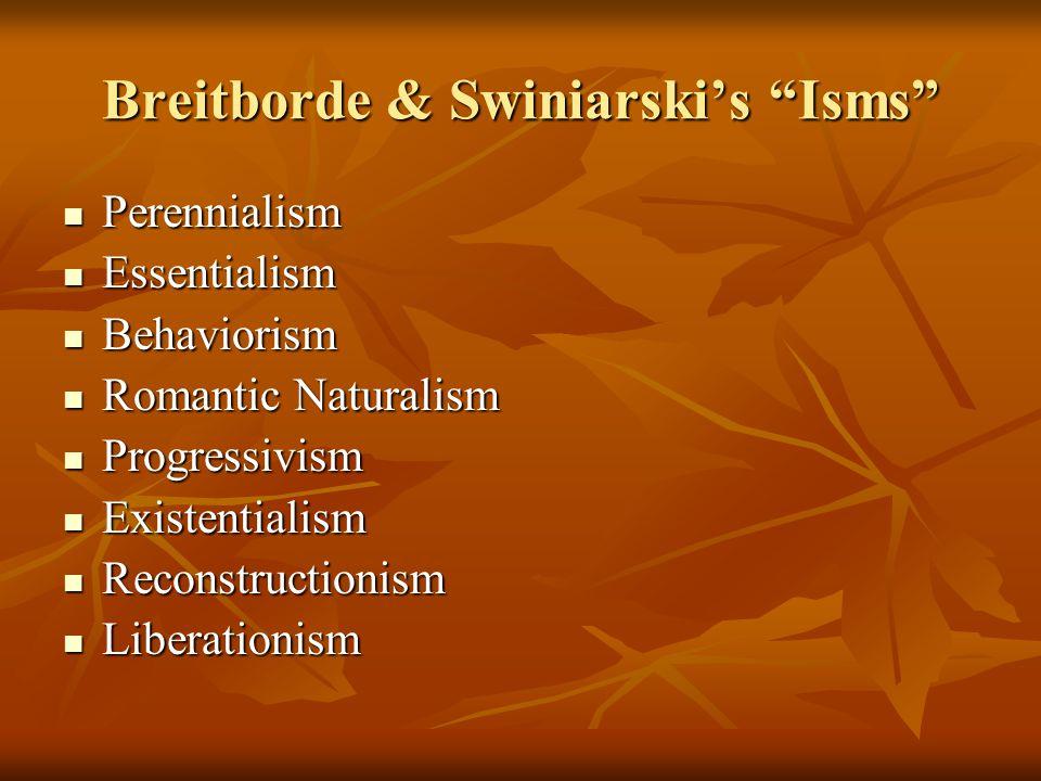 Breitborde & Swiniarski's Isms