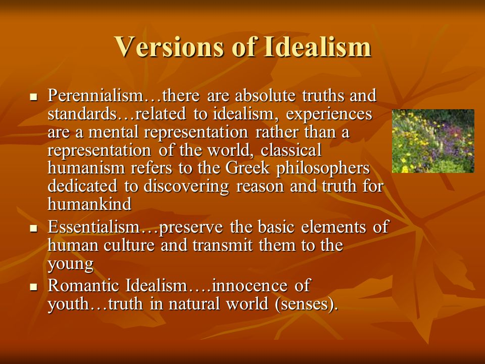 Versions of Idealism