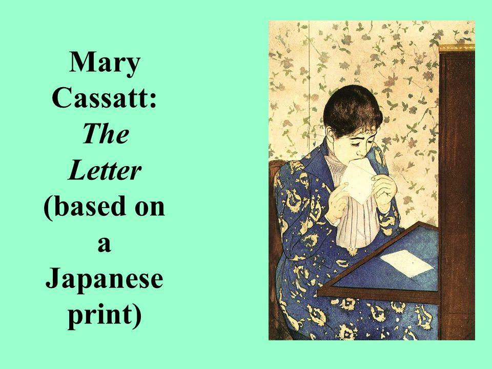 Mary Cassatt: The Letter (based on a Japanese print)