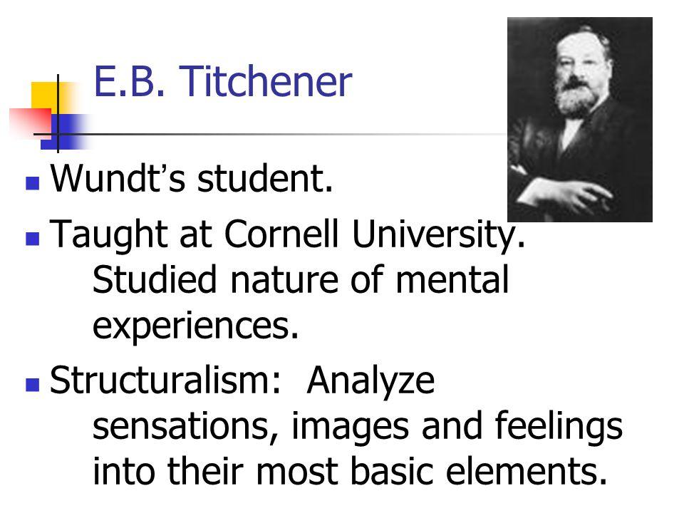 E.B. Titchener Wundt's student.