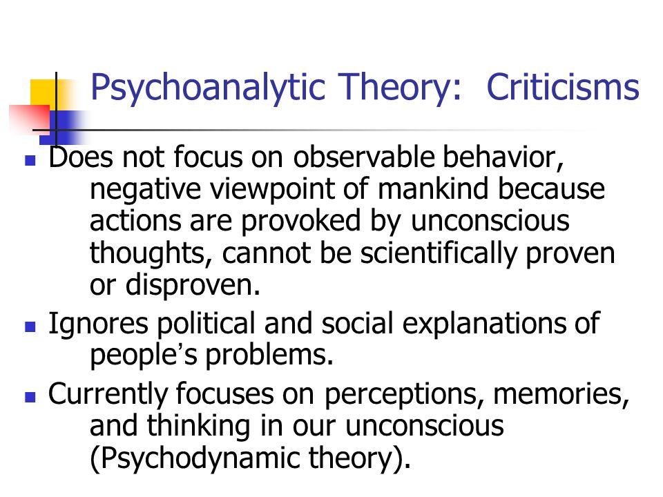 Psychoanalytic Theory: Criticisms