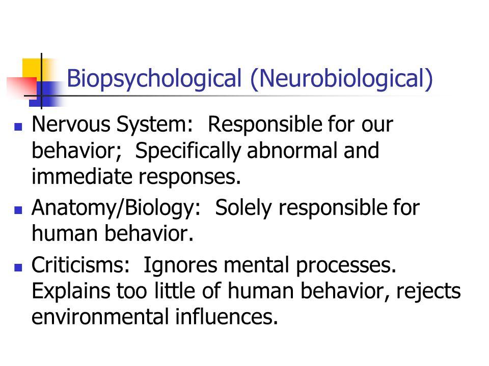 Biopsychological (Neurobiological)