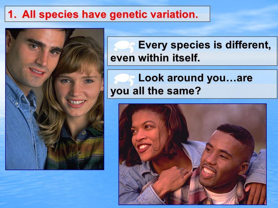 1. All species have genetic variation.