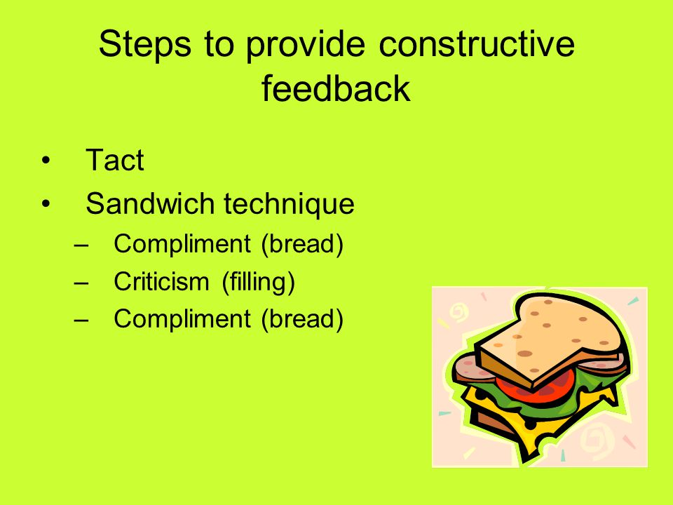 Steps to provide constructive feedback