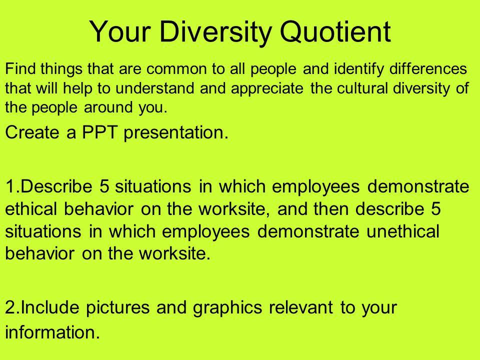 Your Diversity Quotient