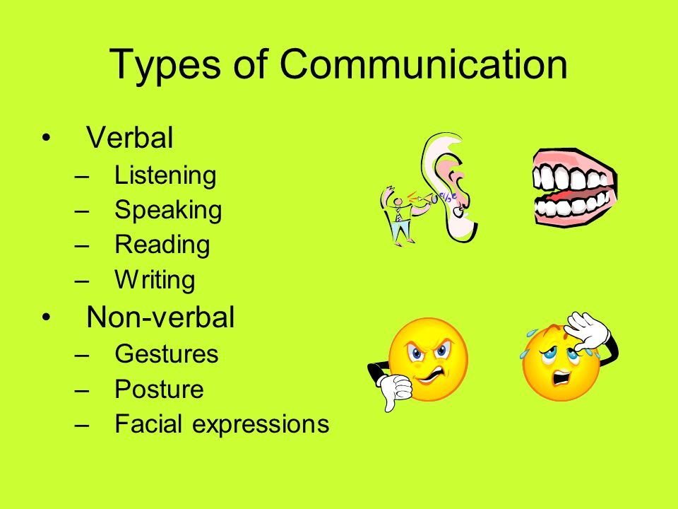 types of verbal communication pdf