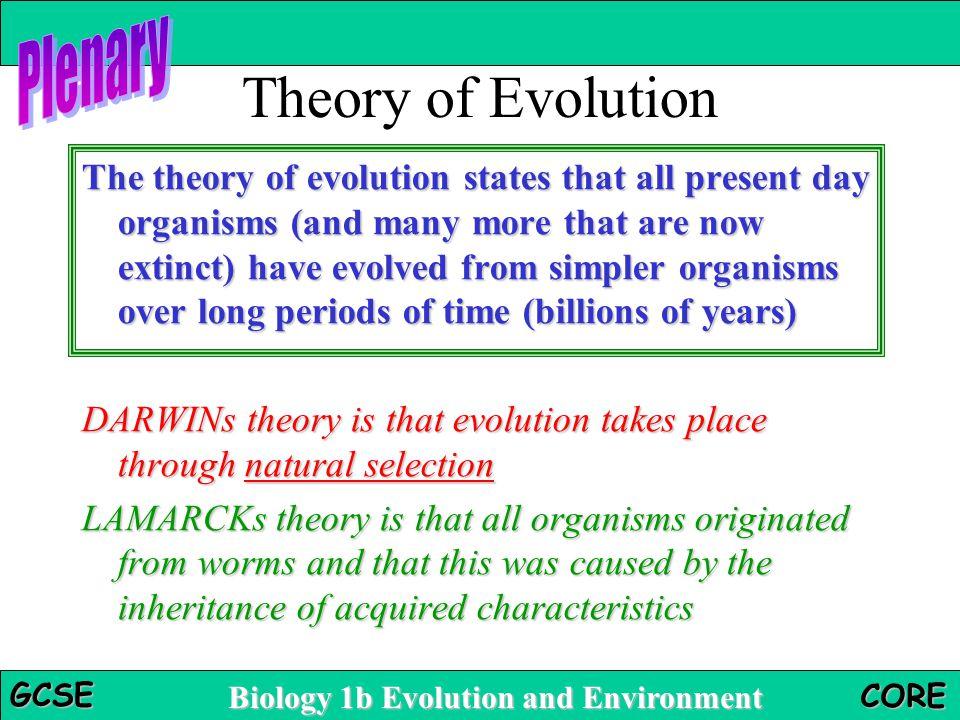 Theory of Evolution Plenary