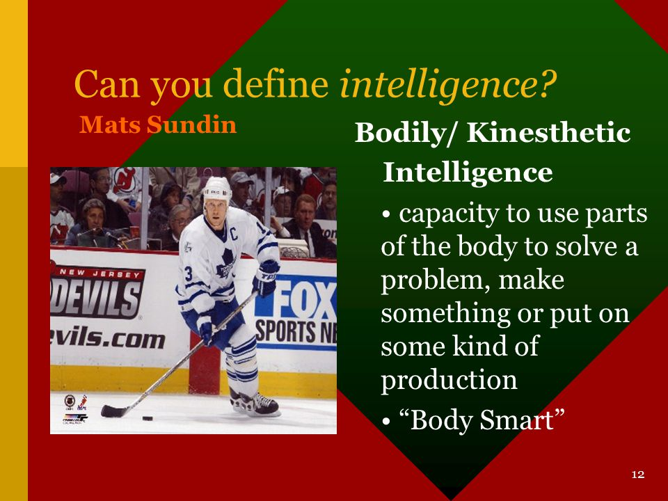 Can you define intelligence