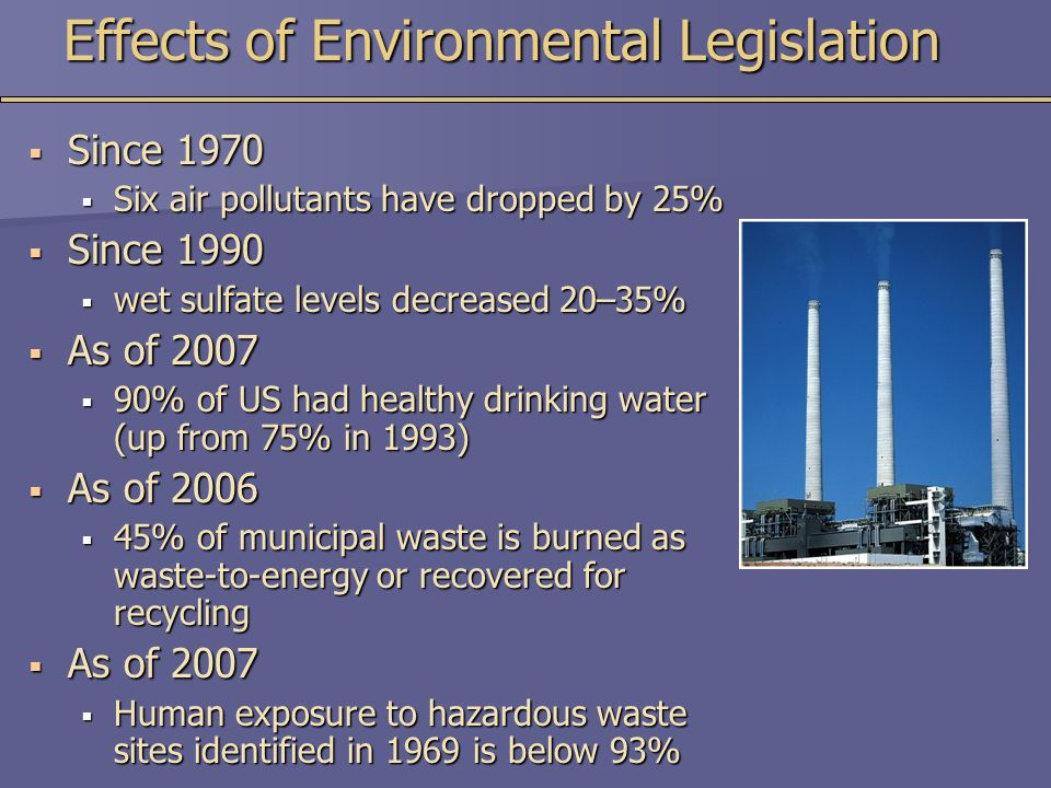 Effects of Environmental Legislation