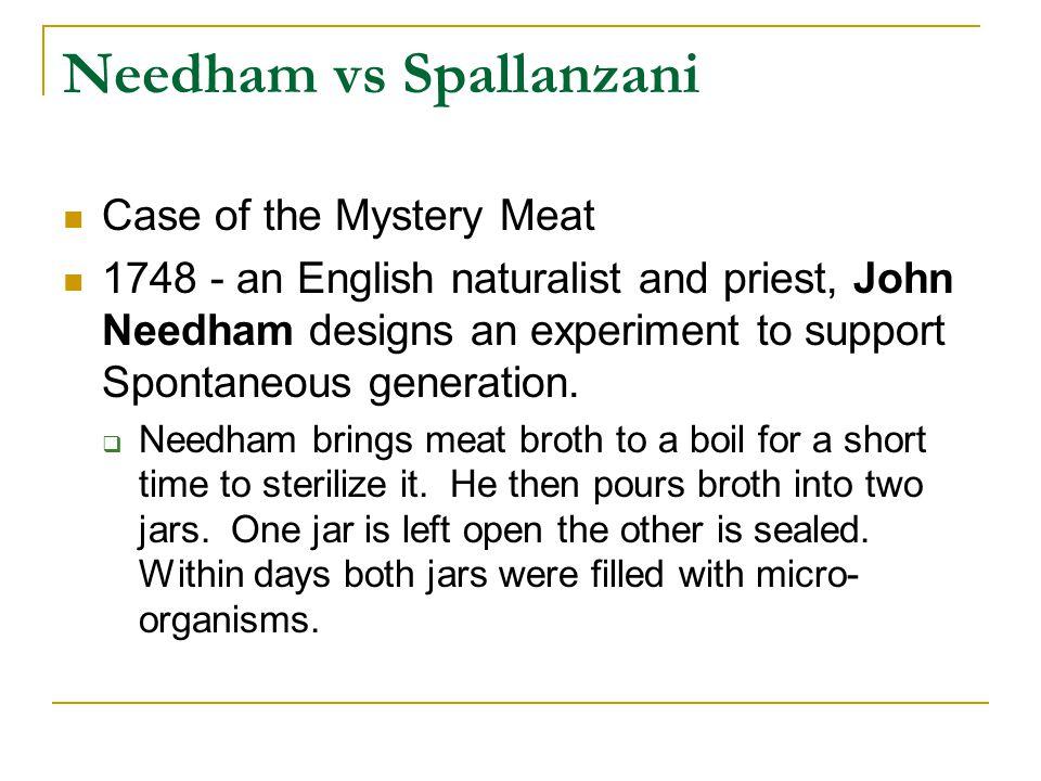 Needham vs Spallanzani